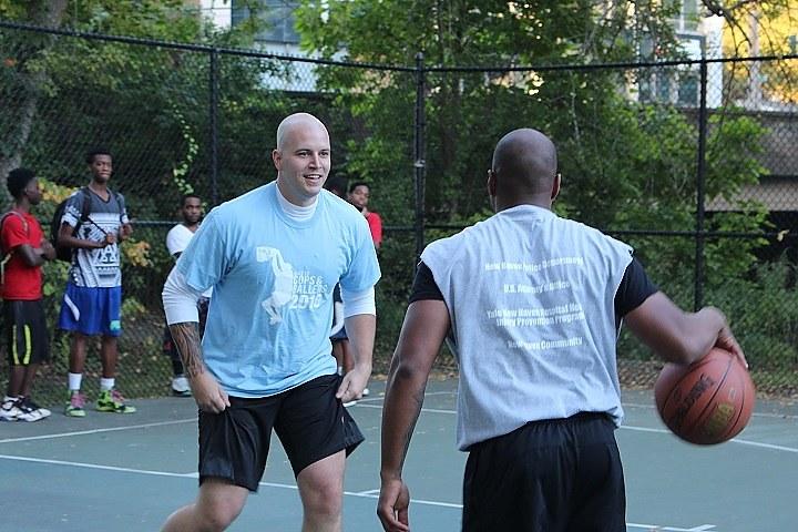 Edgewood basketball court, among those slated for resealing.