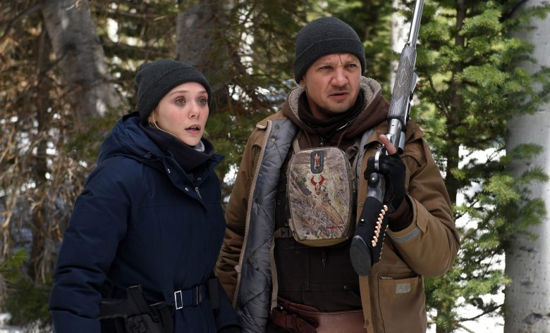 Elizabeth Olsen and Jeremy Renner in WIND RIVER (2017)