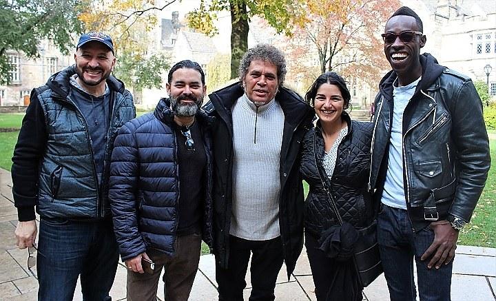Latin American filmmakers come to town for LIFFY. From left to right: Juan Gomez, Carlos Barba Salva, Luis Alberto García, Deyma D'Atri, and Jean Jean.