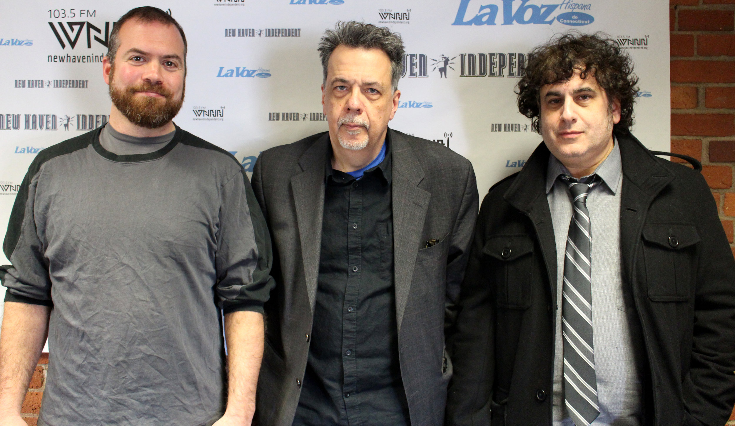 PIZZA, A LOVE STORY director Gorman Bechard (center) and producers Colin Caplan (left) and Dean Falcone.