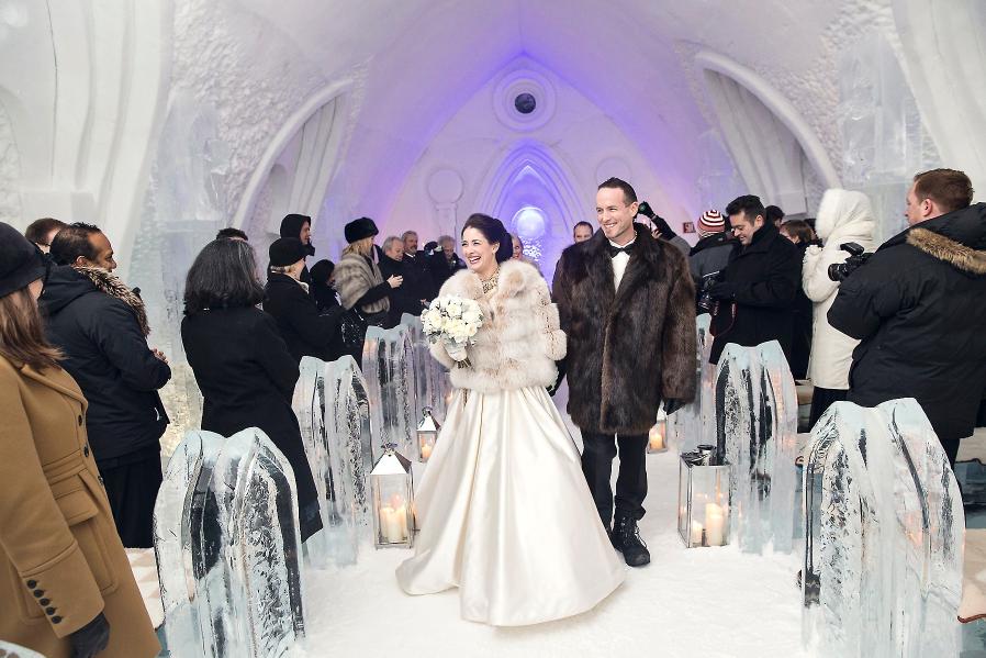 Ice Hotel Wedding