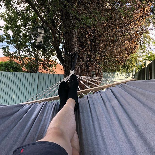 Managed to get 20 mins of hammock time before the start of a very busy weekend!