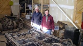 Rebuilding RGS Coach 256 trucks, 2008 (Ed and Lew)
