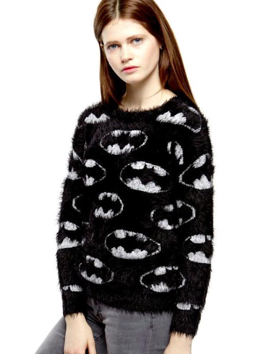 "The Batman/""Catman"" Plush Sweater from Eleven Paris."