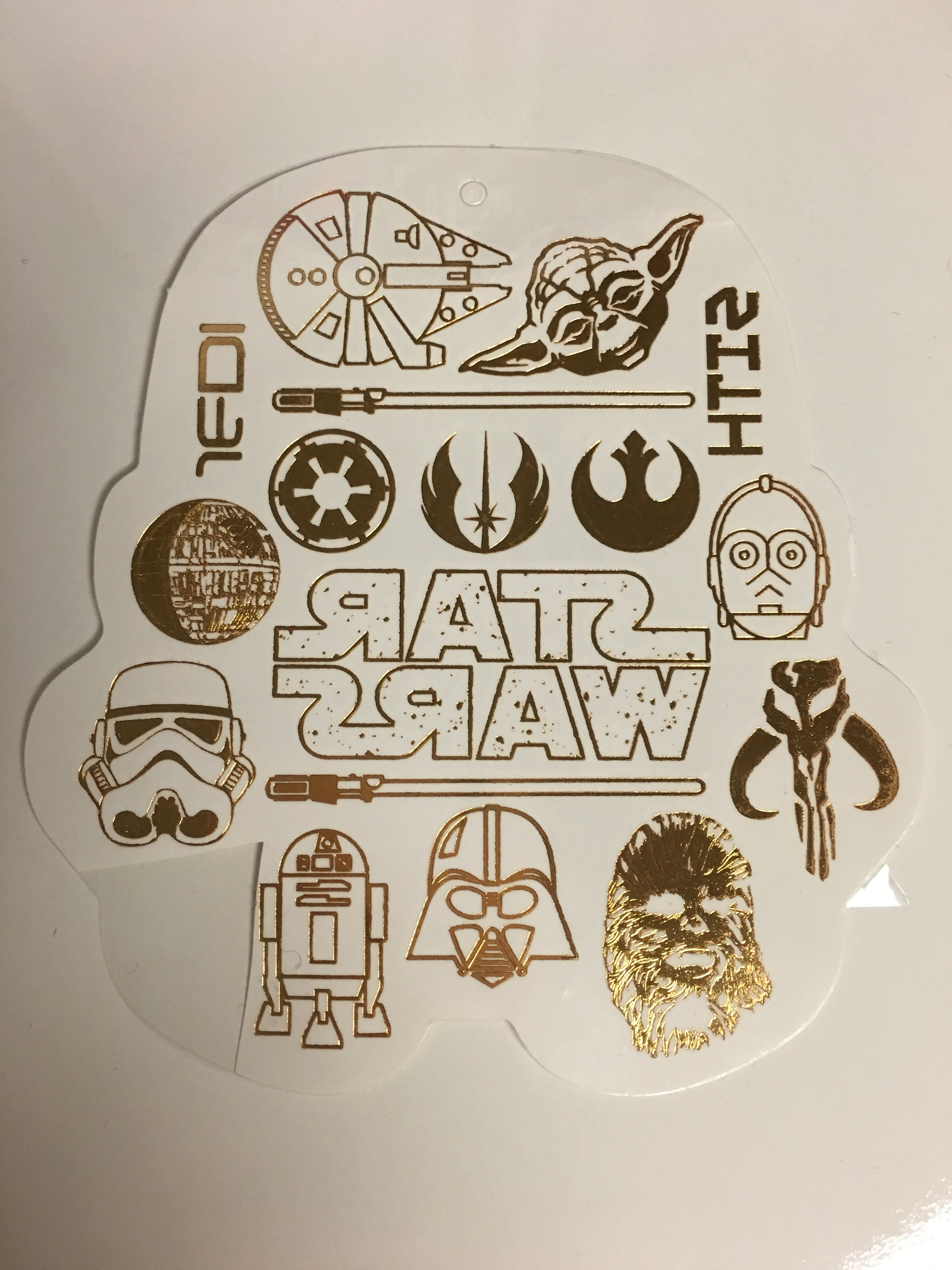 Gold Foil Star Wars temporary tattoos from Love-And-Madness ($10.00)