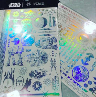 Star Wars Holographic temporary tattoos by Love-And-Madness ($10).