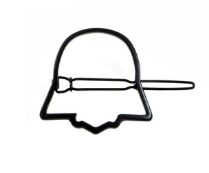 Darth Vader Silhouette hair clip.