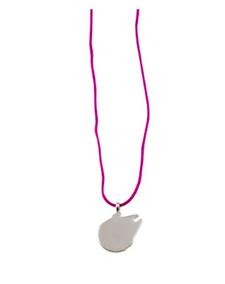 Millenium Falcon Silhouette/String necklace.