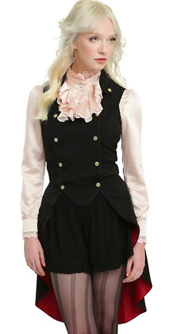 Ladies Mad Hatter Vest/Waistcoat