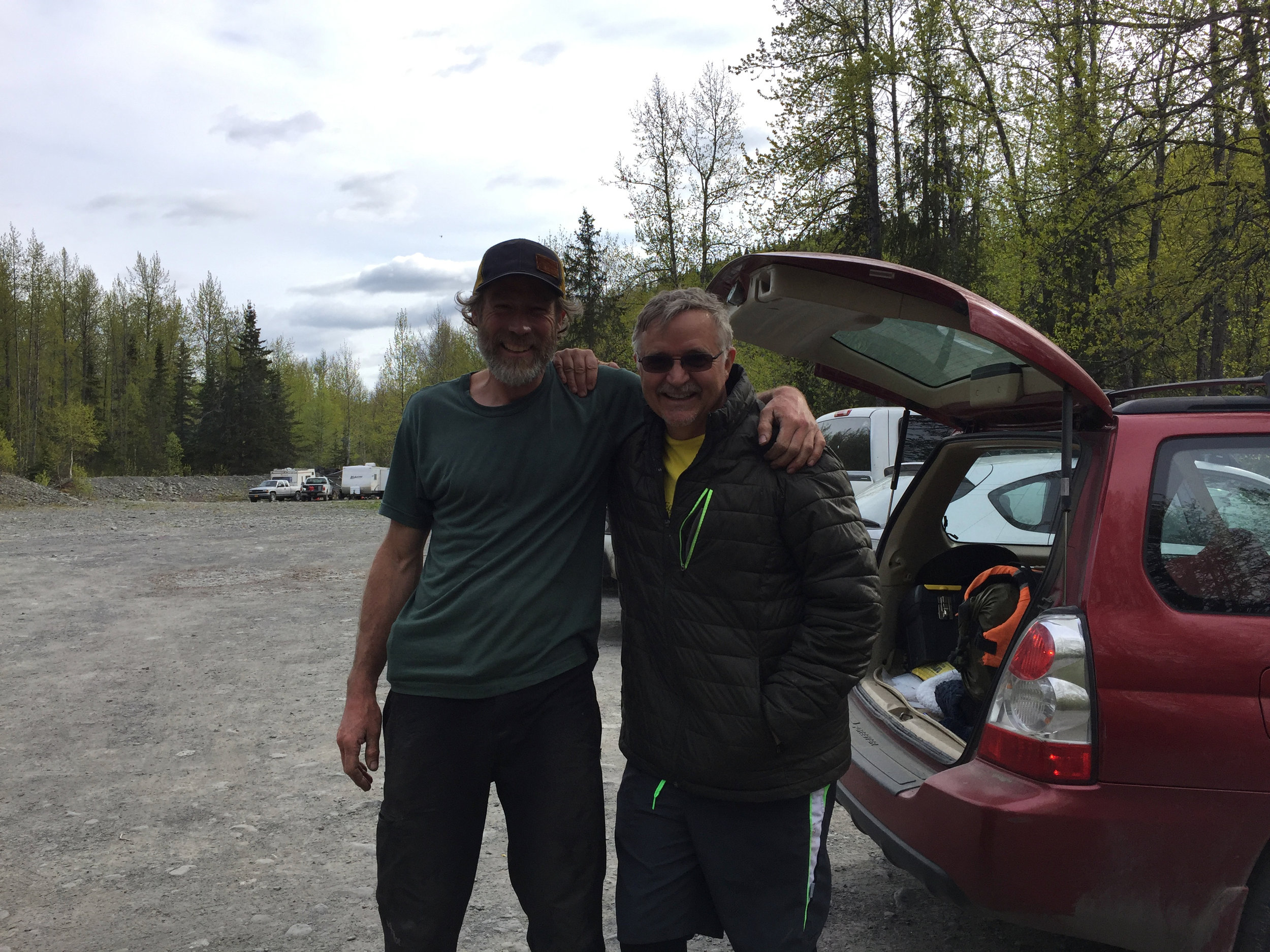 It was great to bump into Joel at the Hope campground. He took our packrafts and gave us a ride to the Resurrection Pass trailhead