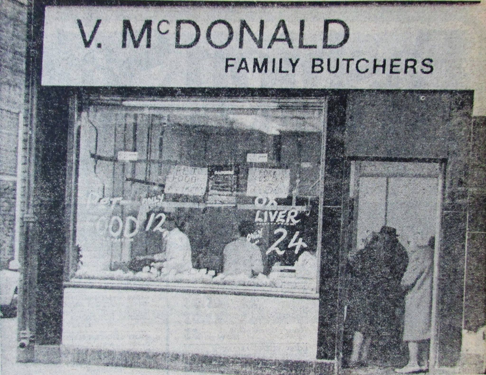 Butchers Shop  - New Butchers shop Opened in Wallsend (Photograph from 1976)