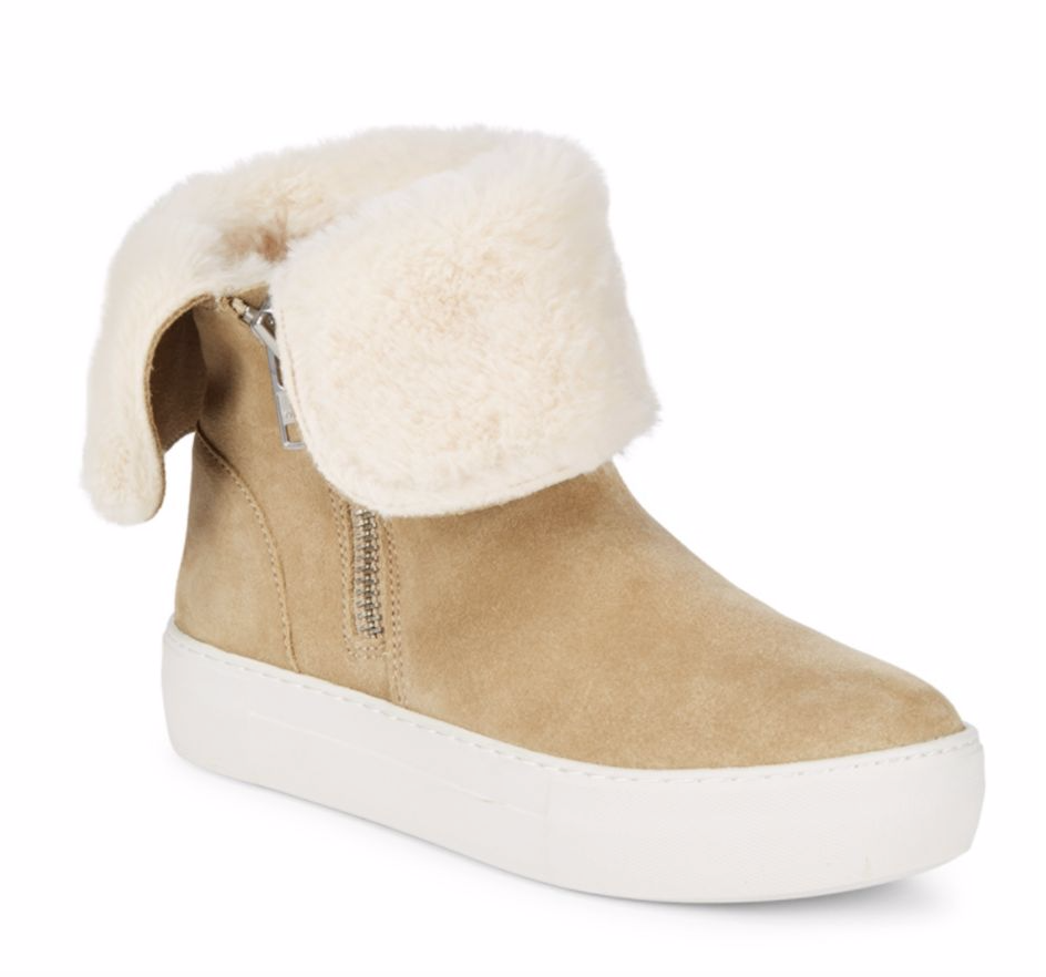 fur-lined shoes - alex x alex $160/90