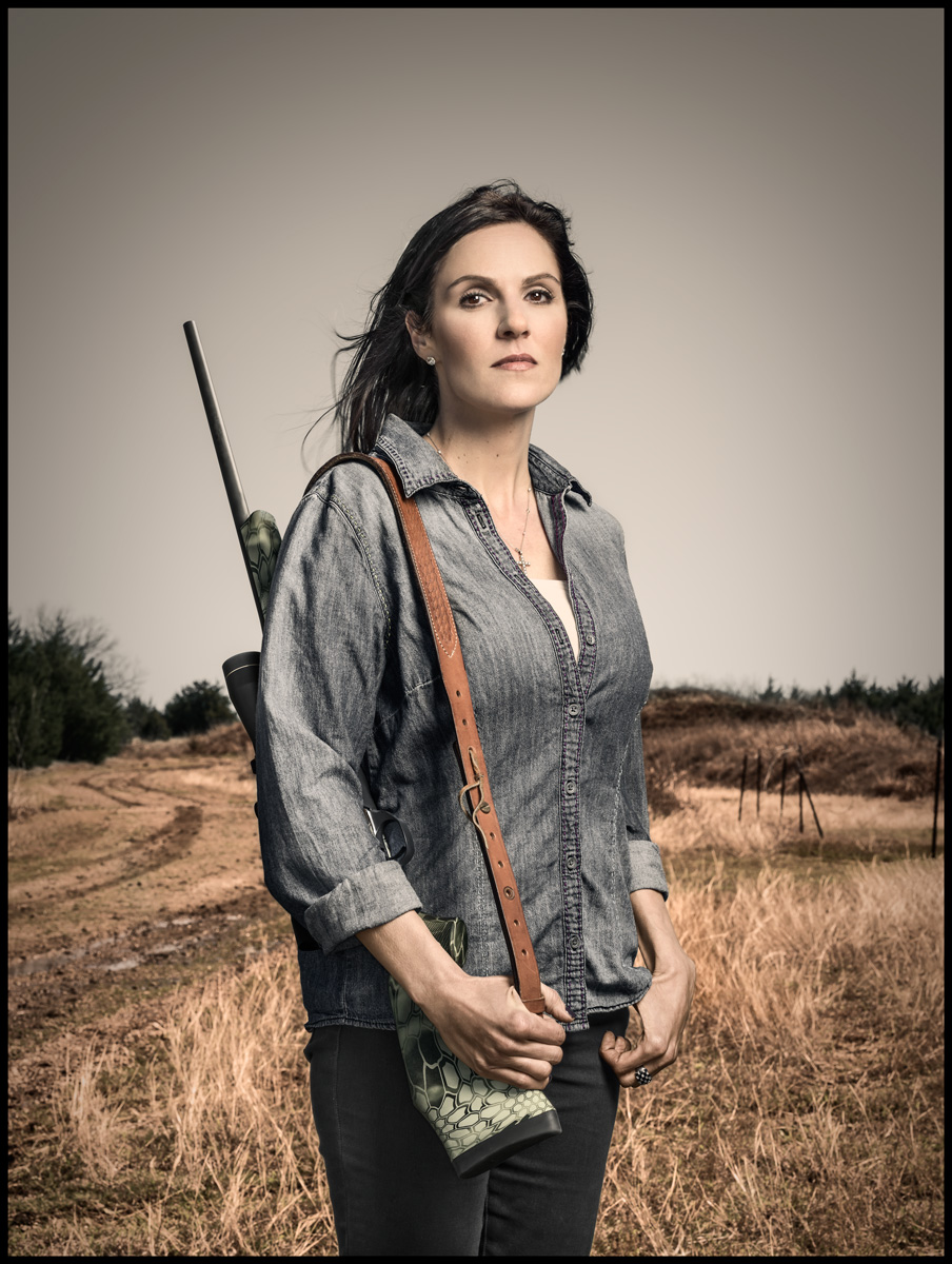 Taya Kyle for Texas Monthly *cover   photo by Dan Winters