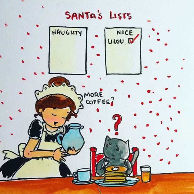Never too late! #lilousticks #santa #naughty #nice #dontgrowupitsatrap