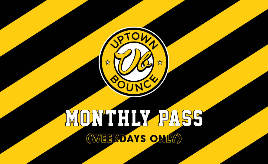 MIDWEEK MONTHLY PASS - Unlimited bouncing during weekdays for one month for a one off payment of $49.Ask our front desk on your next visit.*Conditions apply