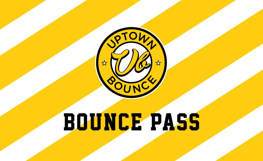 ANNUAL BOUNCE PASS - Unlimited bouncing for a full year.Limited Time Special$199 weekdays$299 anytimeAsk our front desk on your next visit.*Conditions apply