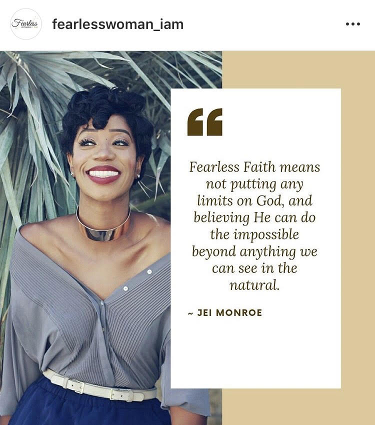 - Fearless Woman of Faith SeriesTrendsetter. Genuine. Intentional. Those are just a few words to describe New York based Fashion Curator, Jei Monroe..