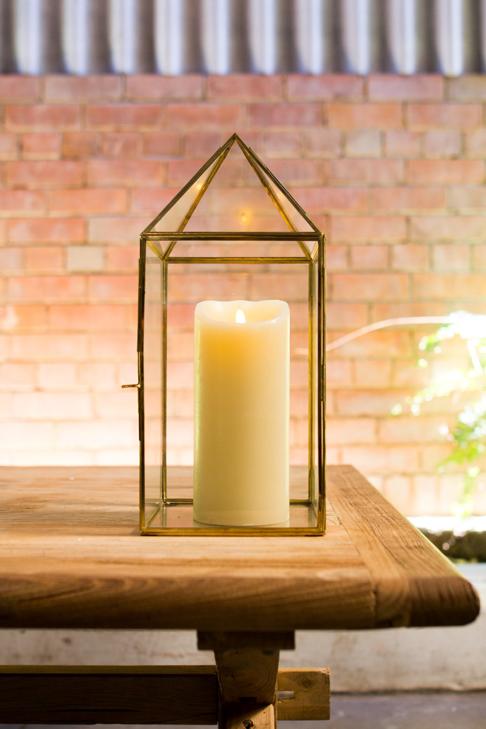 Peaked Brass And Glass Lantern Avideas Event Hire Design