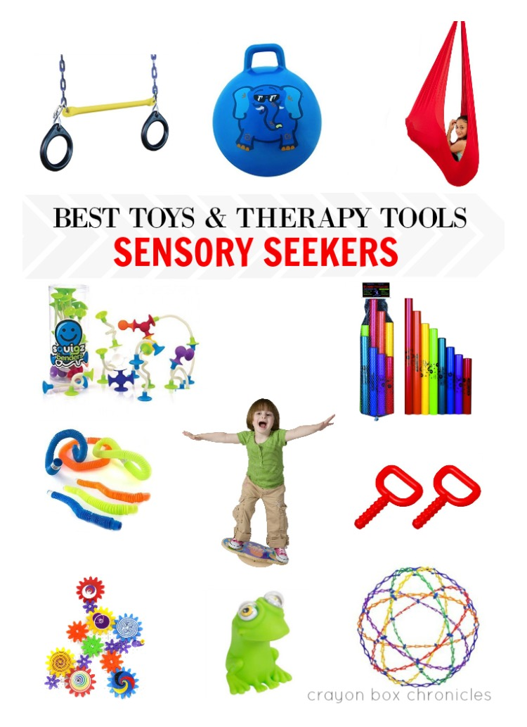 OT Activity of the Day- Toys for those Sensory Seekers