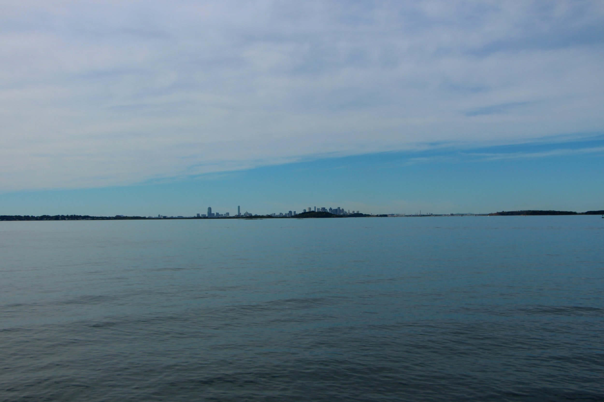 View of Boston from  Nut Island , Quincy, MA