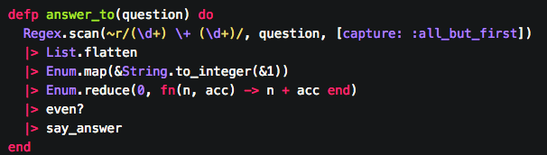 - The pipeline operator takes the result of the function above it and inserts its'result as the first argument of the next function.