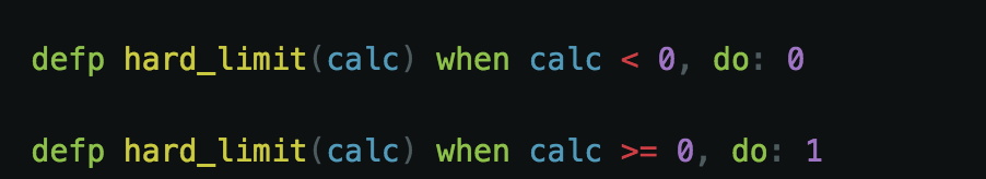 Hard Limit Transfer function in Elixir, making use of guards.