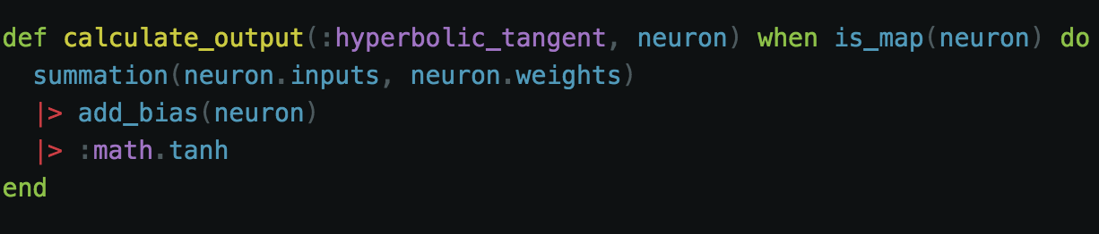 Our Hyperbolic Tangent Function Implementation