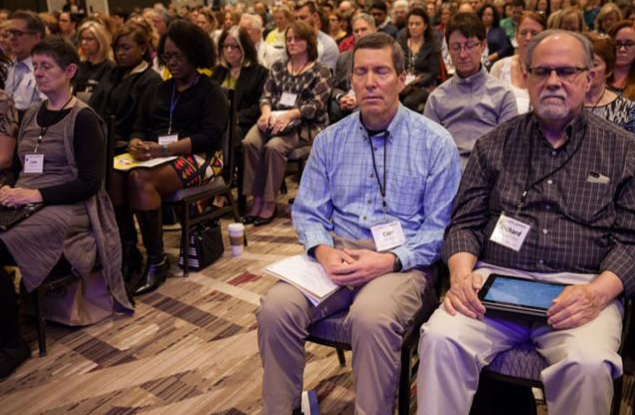 Here I am at the Mindful Leadership Summit with my friend and business partner Rick McKnight. This is the largest gathering in the world dedicated to Mindful Leadership in the workplace.