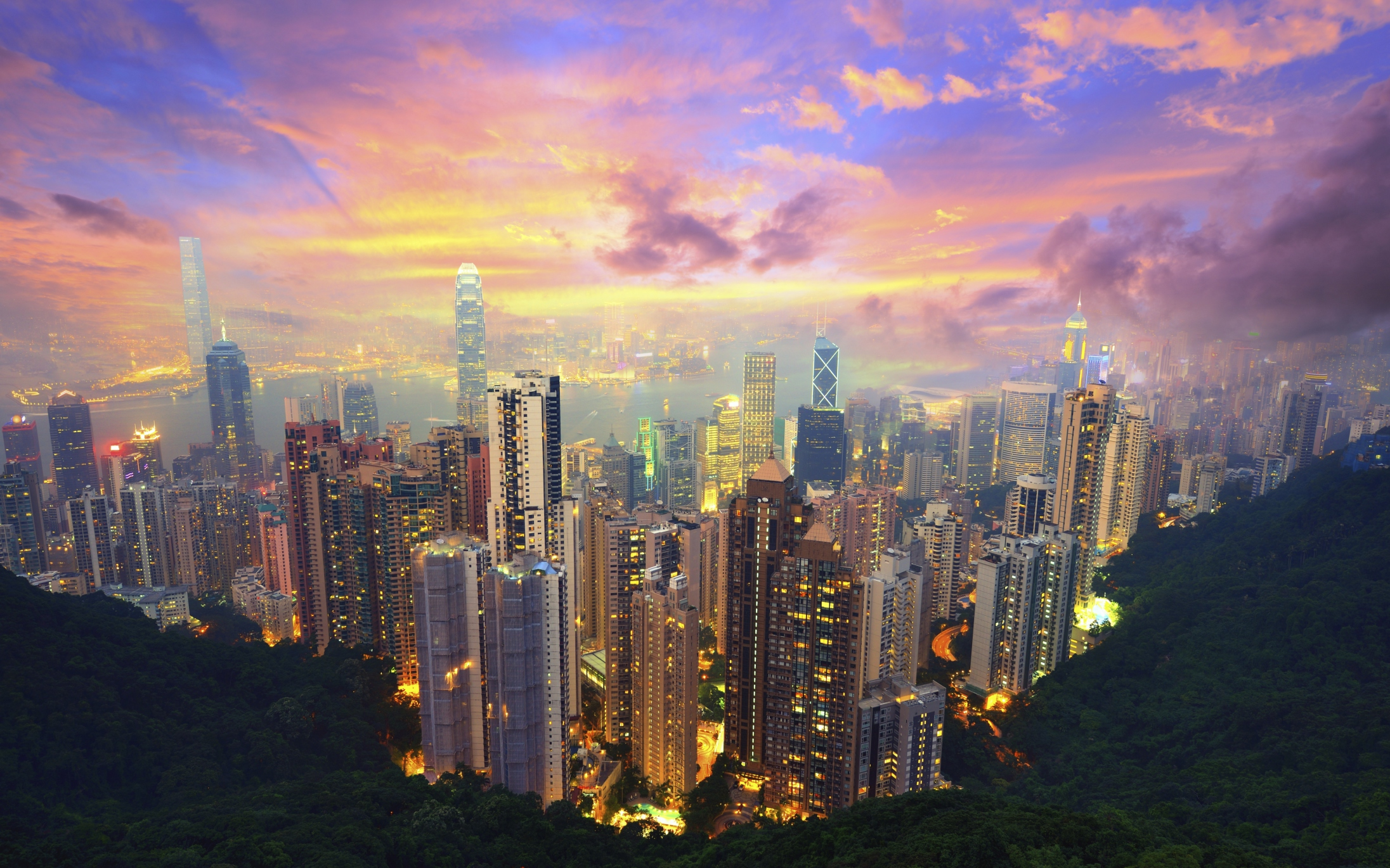 Victoria Peak at Sunset