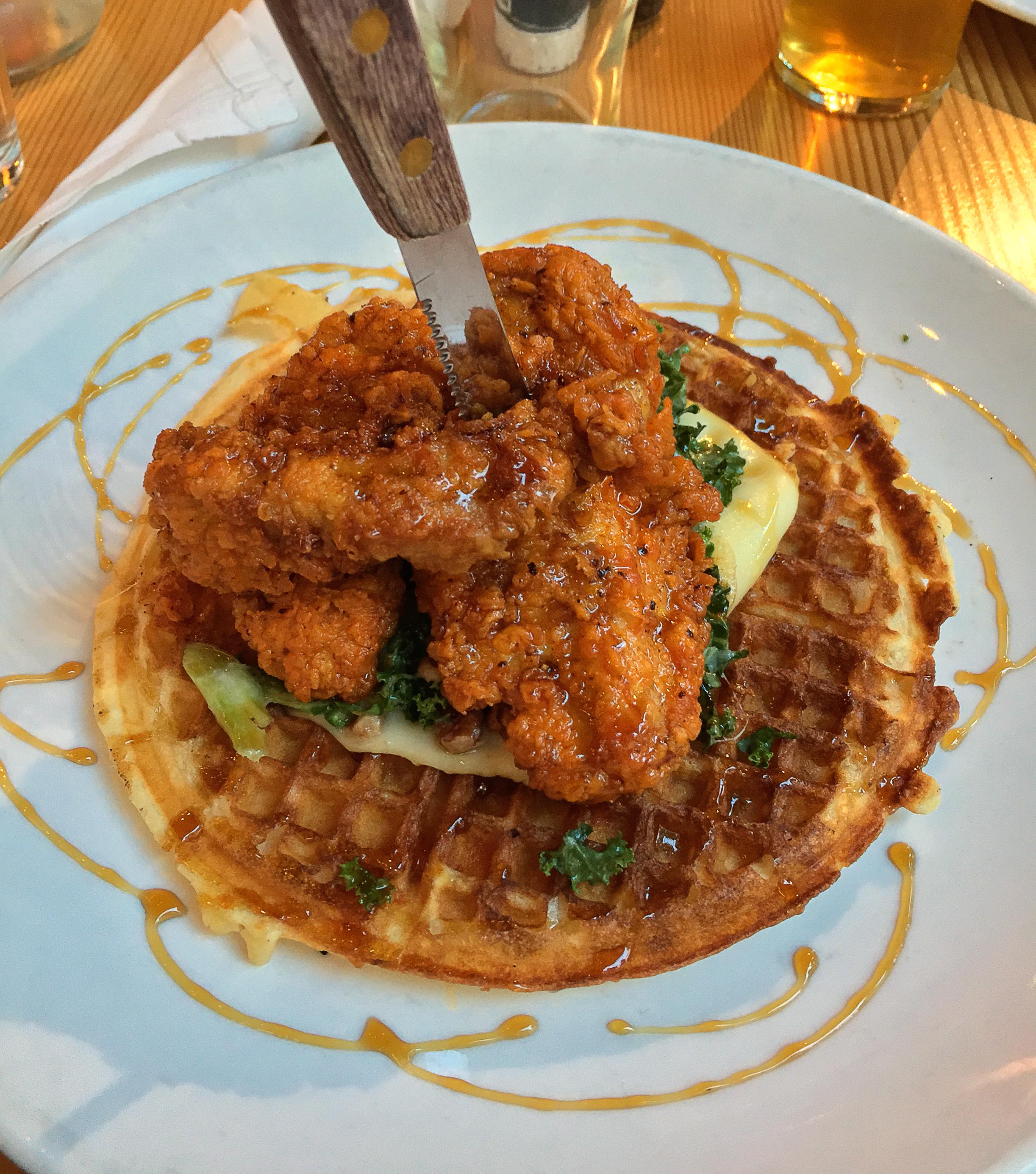 Deschutes Brewery - Spicy Chicken & Waffles