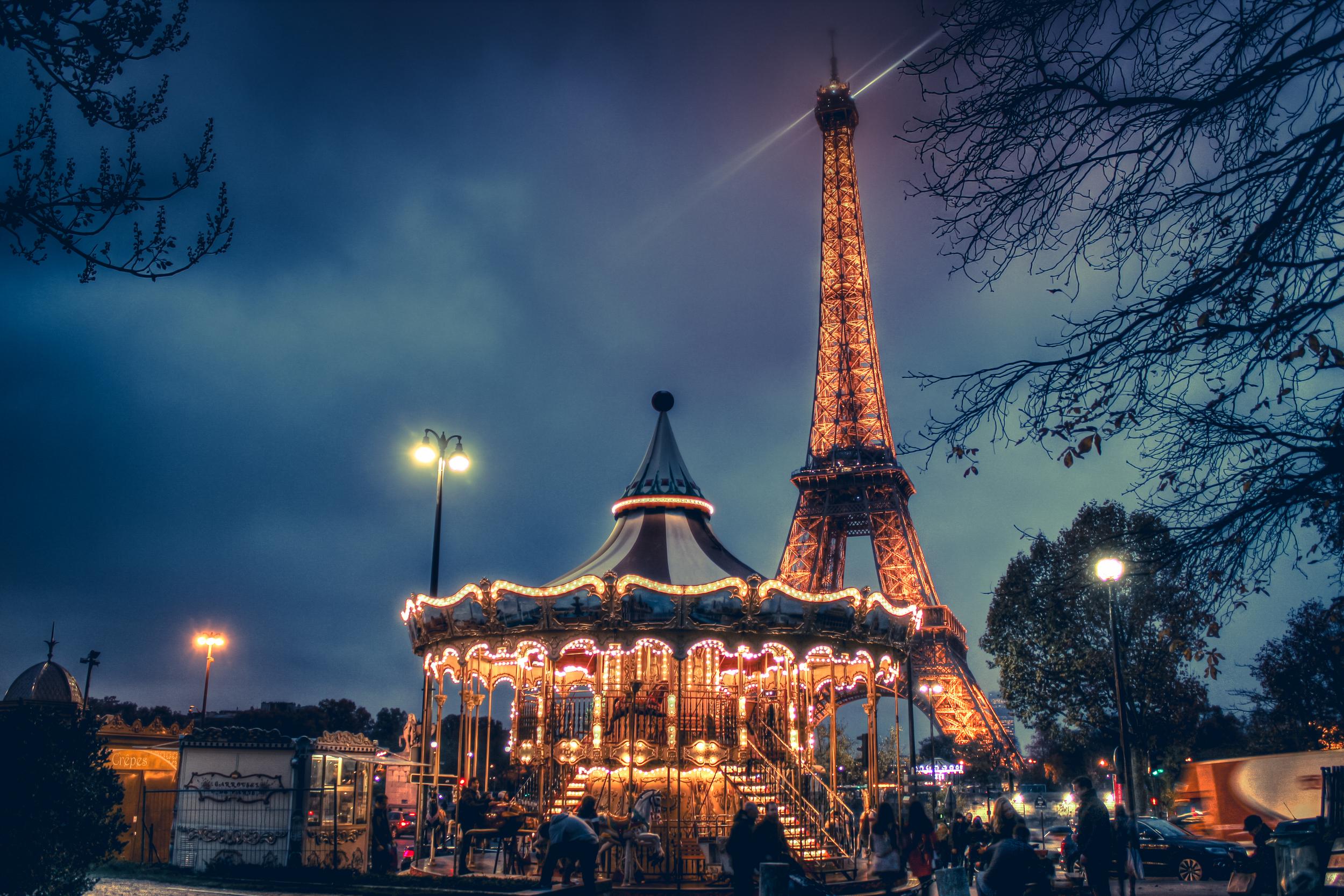 Eiffel Tower Carousel Paris France Europe Eric Bravo.jpg