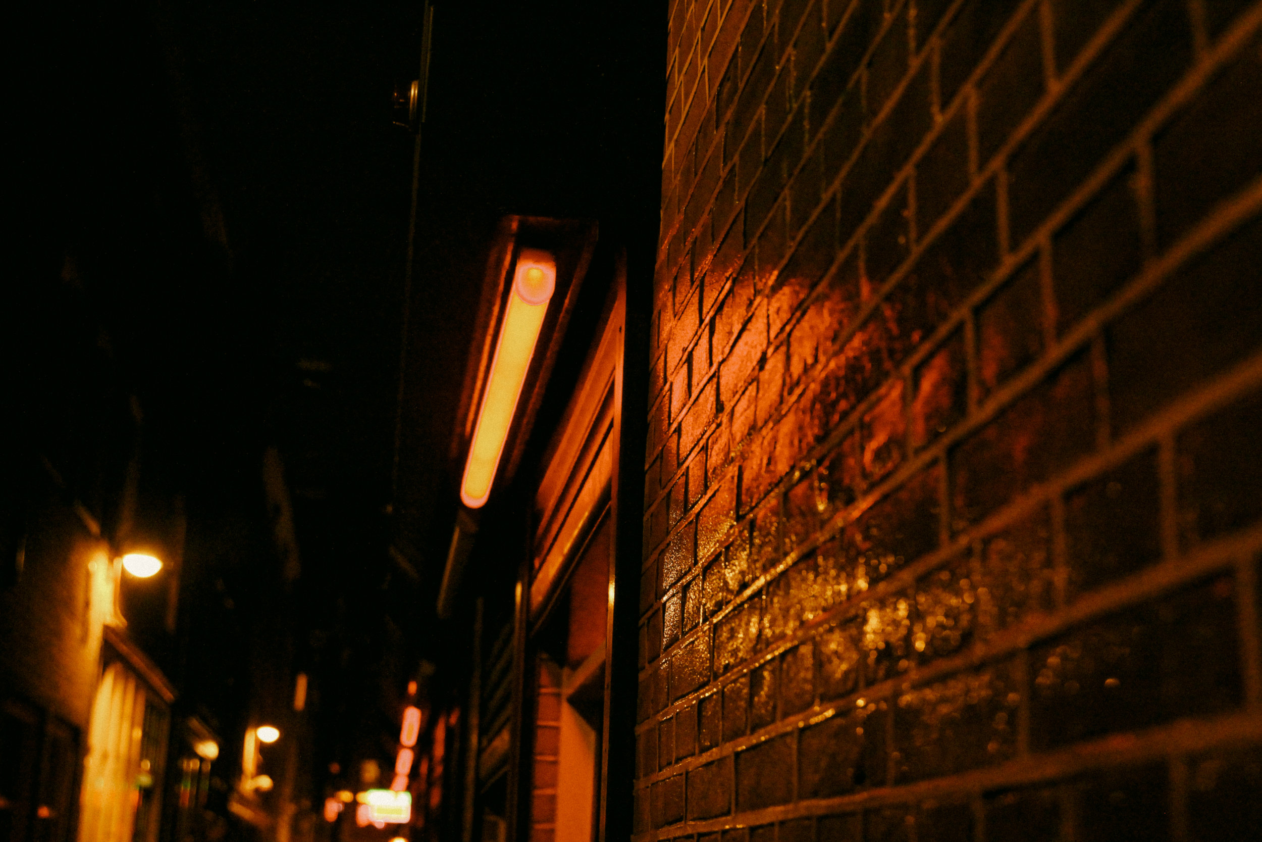 Red Light District at Night by Eric Bravo Photography