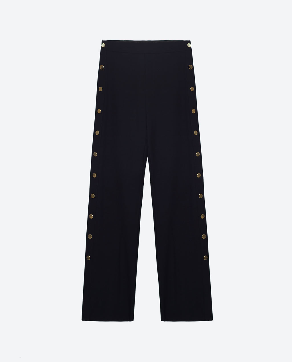 Trousers with Golden Side Buttons