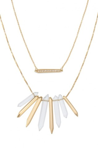 Chunky Rebel Gold Spike Cluster Necklace