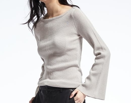 Todd & Duncan Flare Sleeve Cashmere Sweater