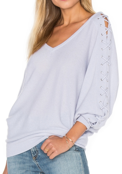 Autumn Cashmere Double V Laced Dolman Sweater