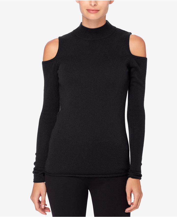 Catherine Malandrino Madre Cashmere Cold-Shoulder Sweater