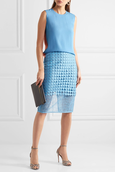 $300 - Diane Von Furstenberg Lace Pencil Skirt