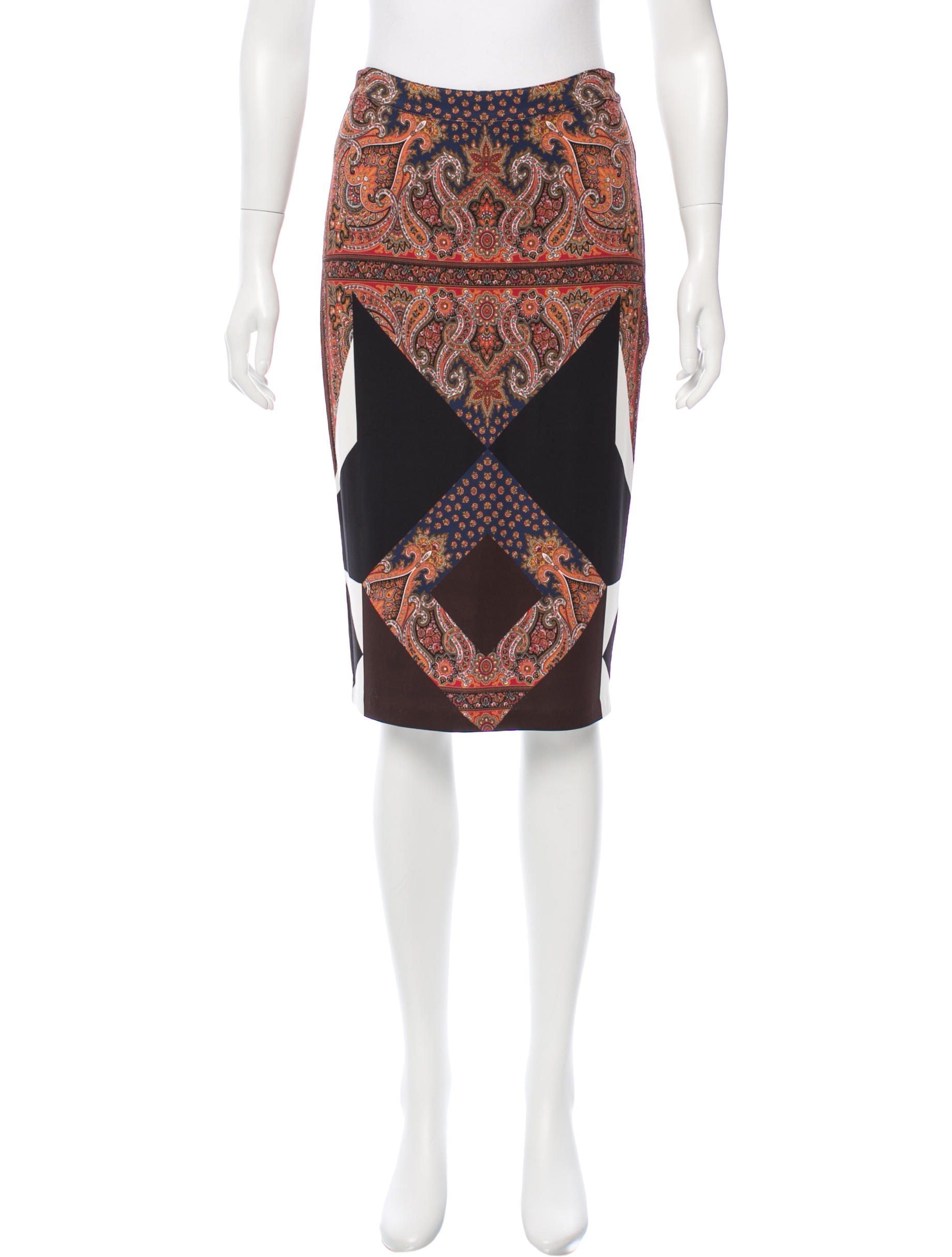 $122.50 - Givenchy Printed Pencil Skirt