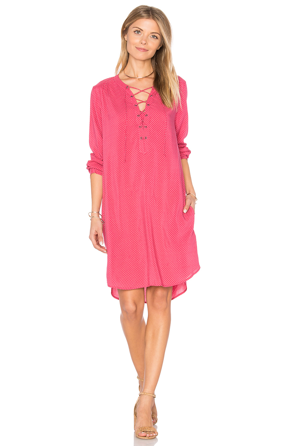 $81 - Velvet by Graham & Spencer Zoey Lace Up Dress