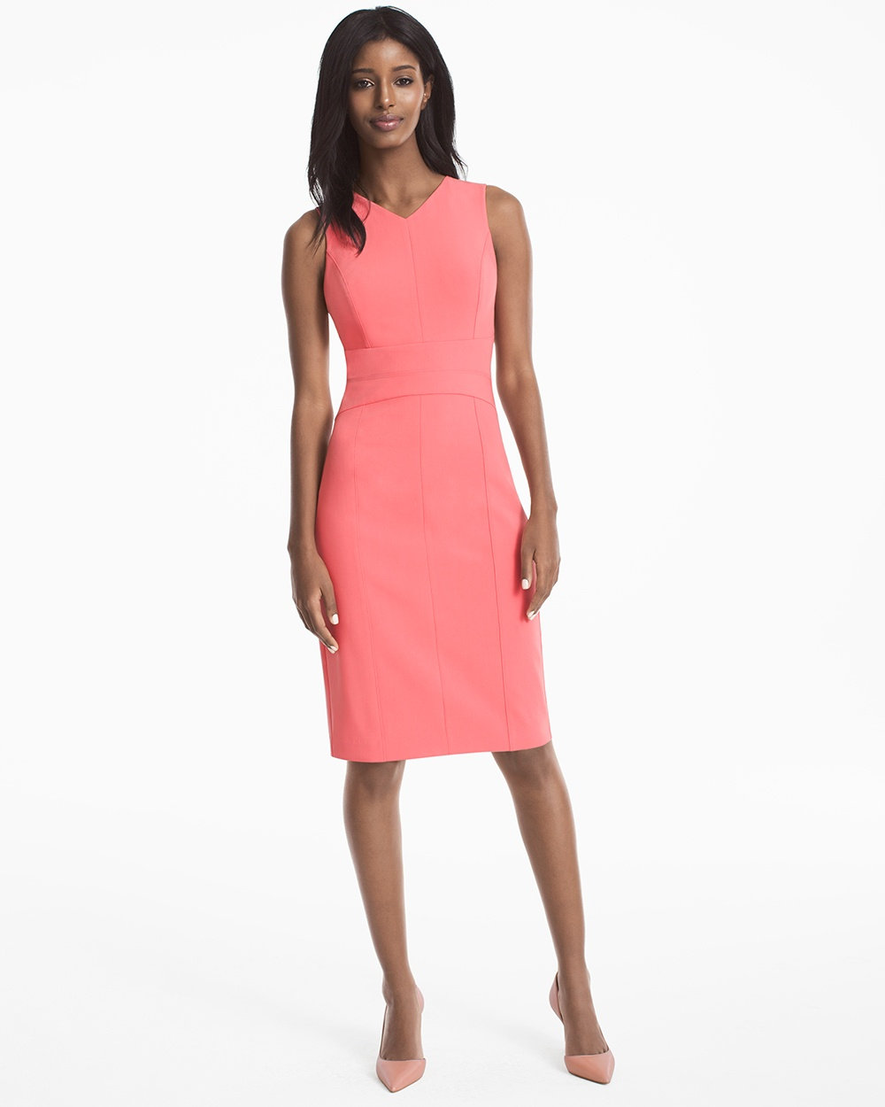 $69 - WHBM Seamed Sheath Dress