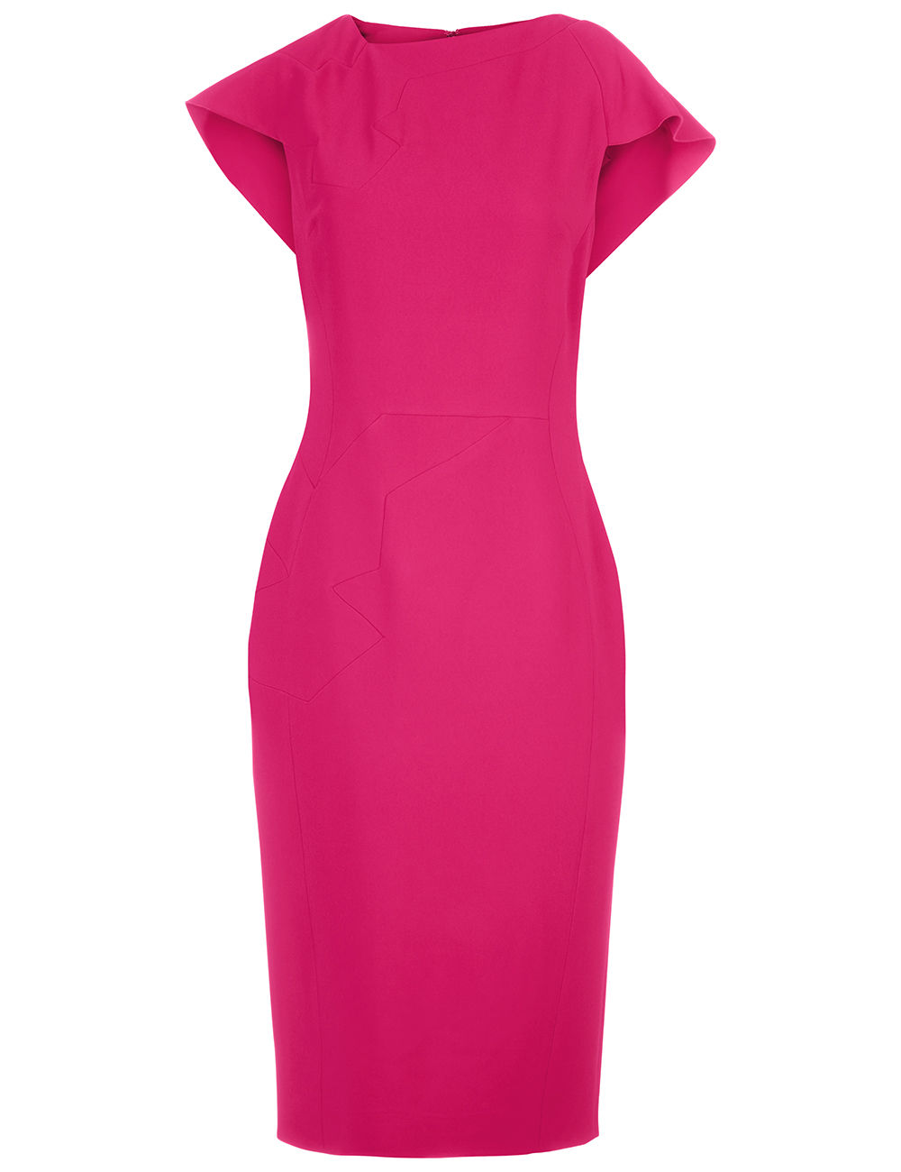 Antonio Berardi - Raspberry Cape Sleeve Midi Dress