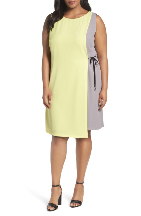 $138 Tahari Asymmetrical Shift Dress