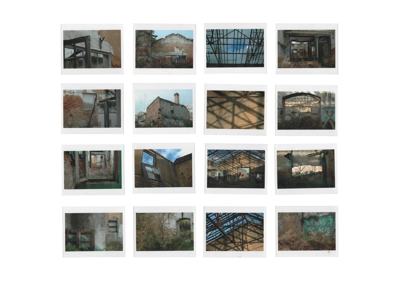 ENTROPY  Photographic investigation of abandoned spaces hidden in the center of Lisbon and awaiting demolition. An orderly documentation of disorder balanced by any system and contained in the inherited spaces of identity.  These spaces don't exist anymore.