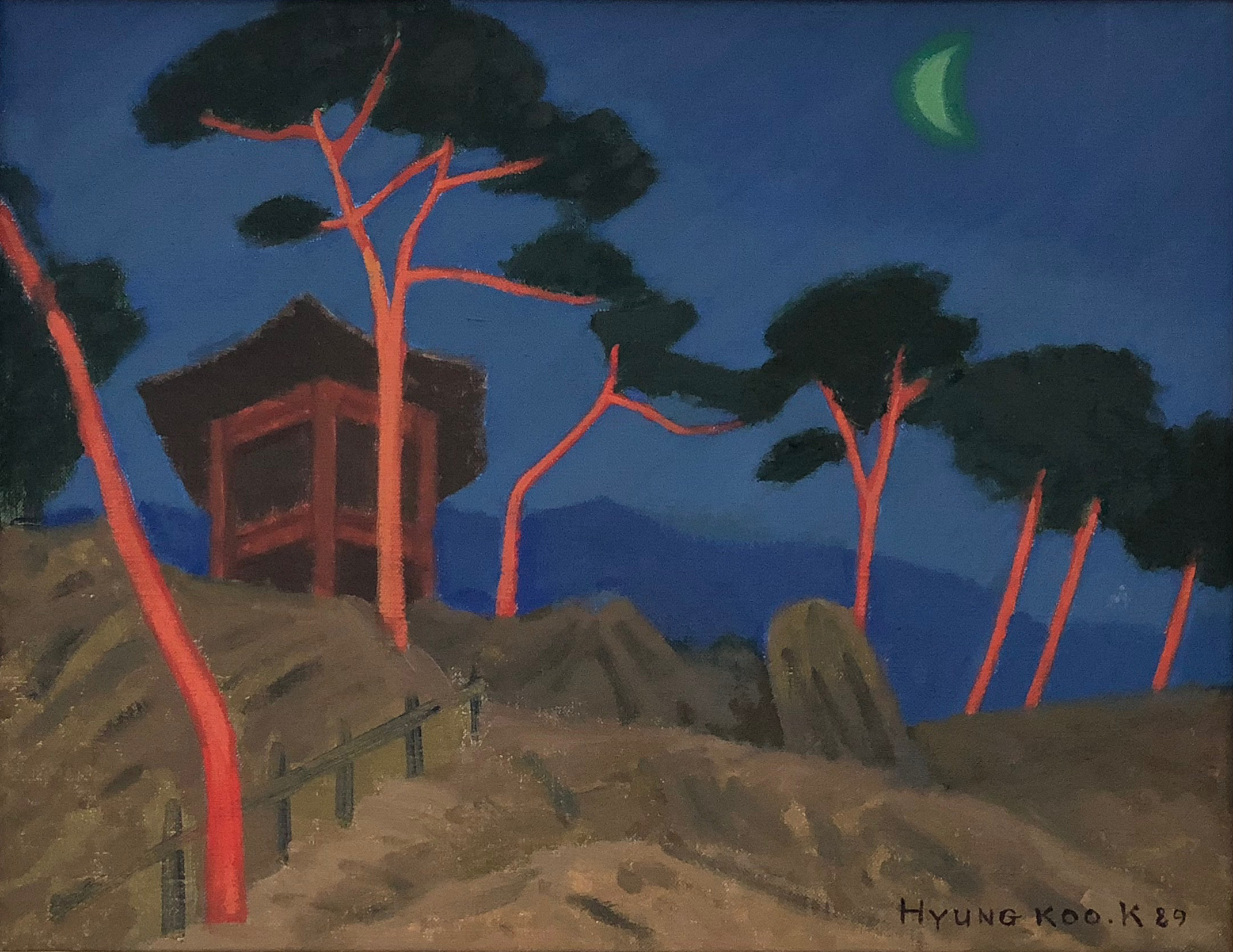 Moon and Pine Tree, 1989