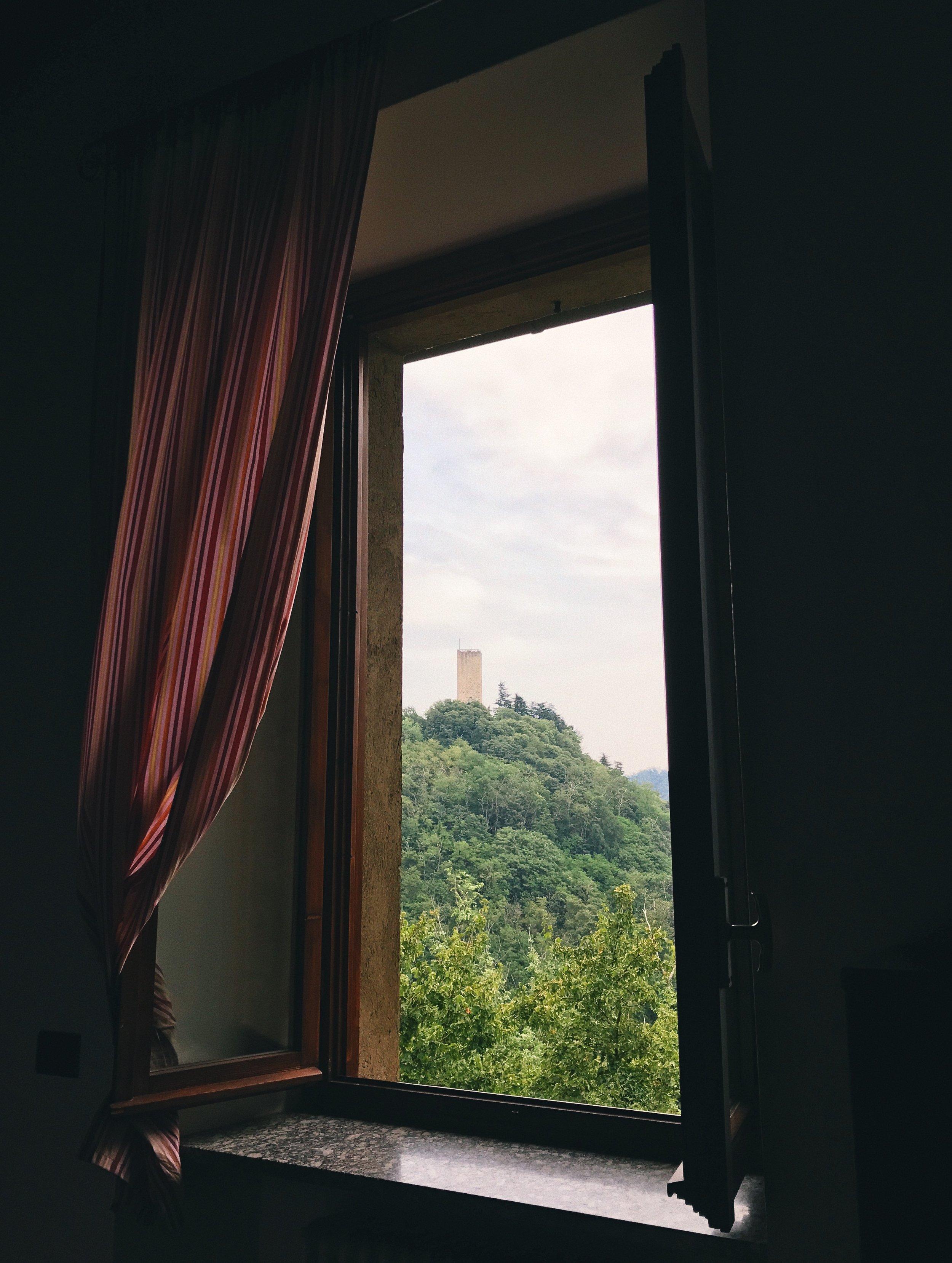Castello Baradello desde nuestra ventana