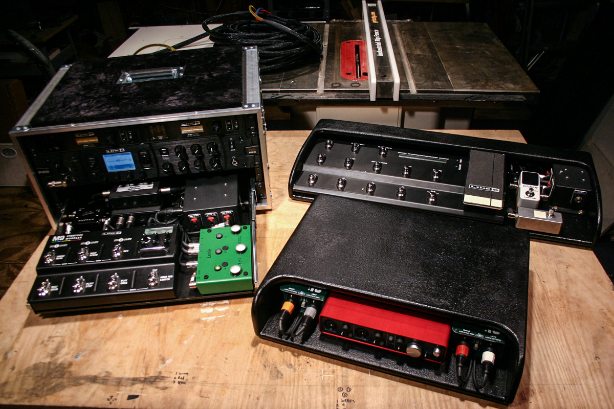 Here is a flyable guitar rig and a MainStage keyboard rig I built for Owl City in 2015