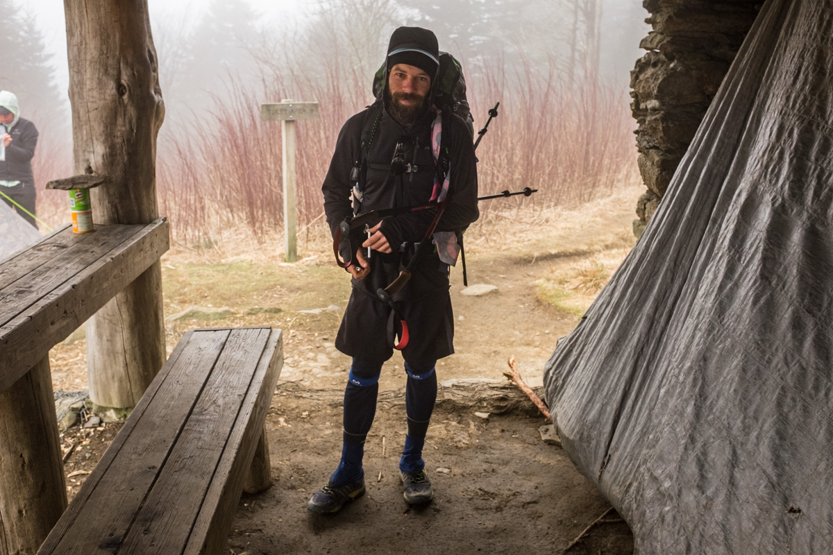 38, a hiker I met early in his 2200 mile hike along the Appalachian Trail