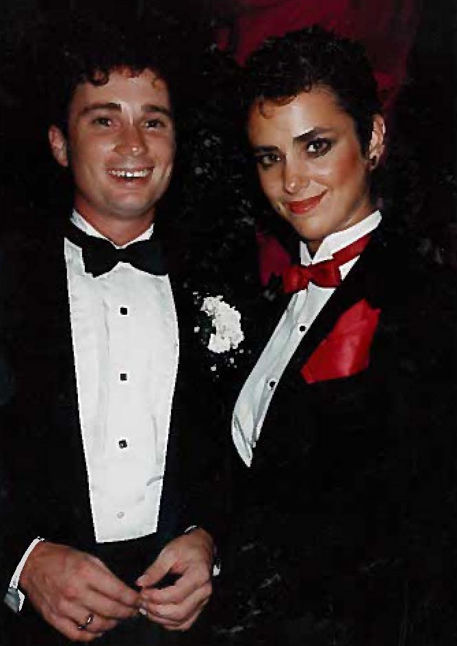 Deb and Reece - Opening Night - La Cages - 1984.jpg