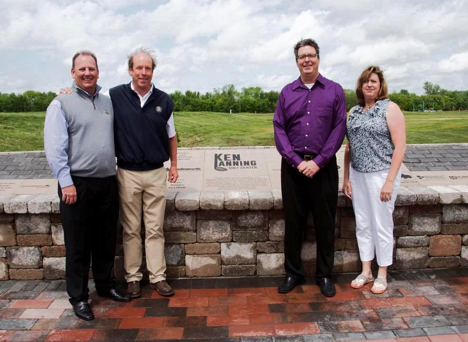 Ken's family joined us at the Opening. Pictured from left Scott Hovis, MGA executive director. Joe Dan Lanning, Dan Lanning and Laura Lanning Hayes.